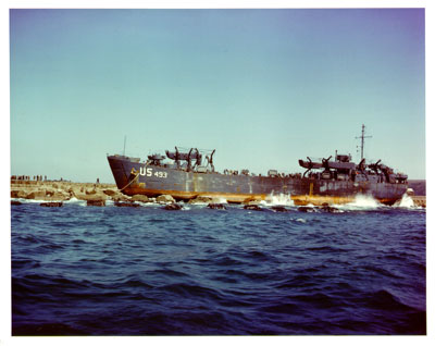 LST 493 Grounded Plymouth Breakwater